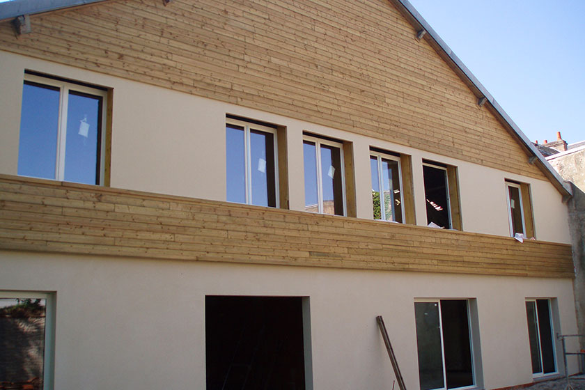 Bardage en bois traditionnel en Pin Sylvestre traité classe 4