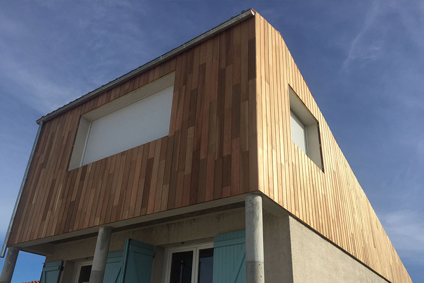 Bardage en bois traditionnel en Western Red Cedar
