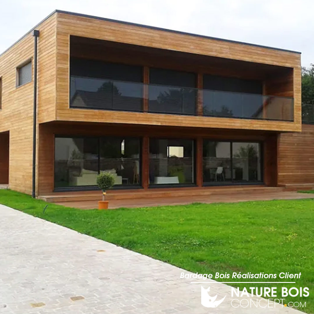 Exemple De Bardage Exterieur photos de réalisations clients de bardage bois - nature bois