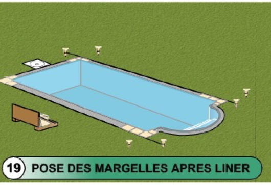 Pose dallage piscine ambiance margelle de piscine for Pose margelle bois piscine