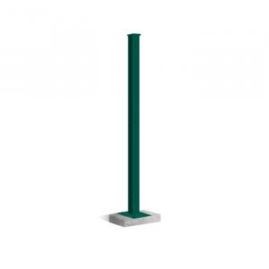 Clôture rigide poteau platine Nature Bois Concept Vert 1.23m