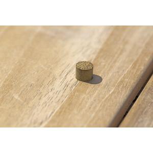 Mise en oeuvre d'un bouchon en bois exotique IPÉ