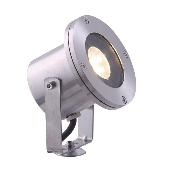 Spot LED Arigo en acier inox