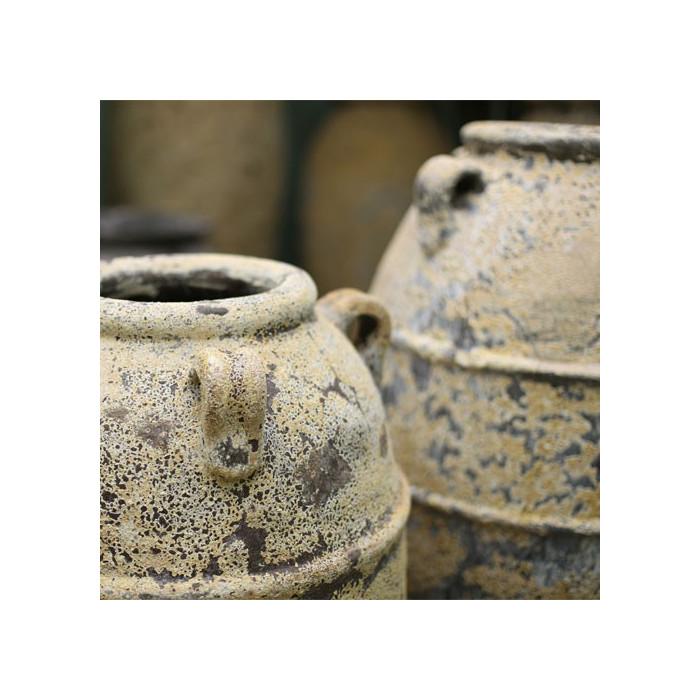 Finition d'une poterie extérieur Kos Jar