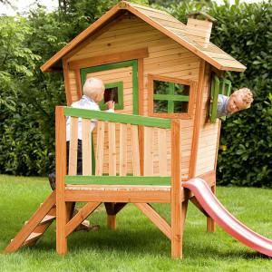 Cabane en bois et toboggan pour enfant - Robin