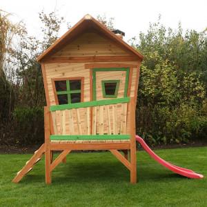 Cabane en bois et toboggan pour enfant - Iris