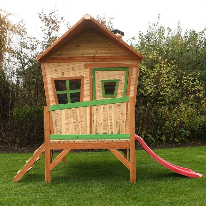 maisonnette en bois avec toboggan pour enfant mod le. Black Bedroom Furniture Sets. Home Design Ideas