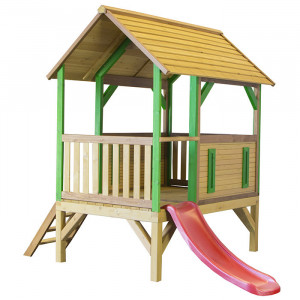 Aire de jeu en bois et toboggan  - Akela