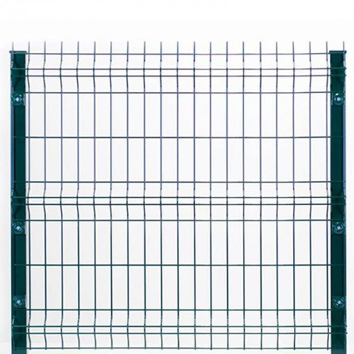 kit clôture rigide à sceller nature bois concept 1,53 m gris