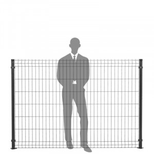 Hauteur panneau clôture rigide 1,53m gris