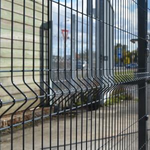 Clôture rigide posée à sceller 1,73m gris