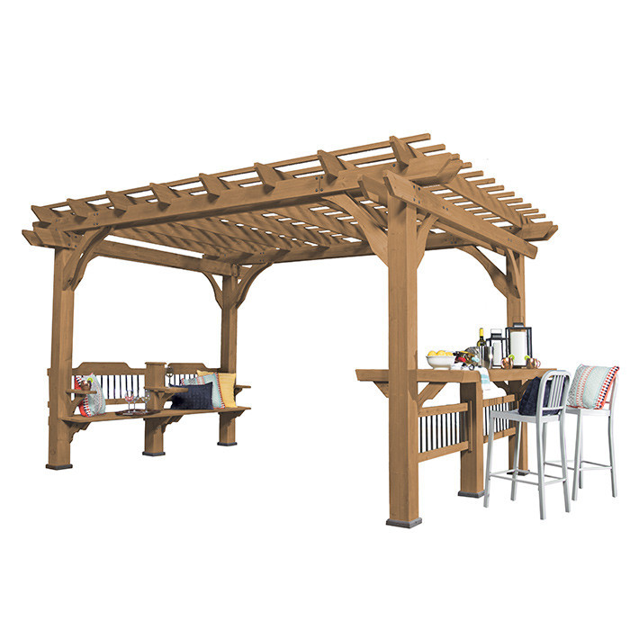 pergola en bois mod le bella vista par discovery backyard. Black Bedroom Furniture Sets. Home Design Ideas