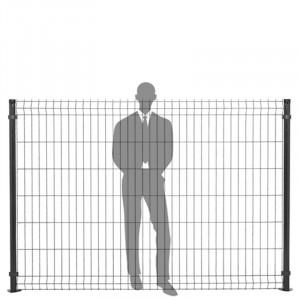 Hauteur panneau clôture rigide 1,73m gris