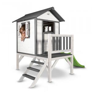 Cabane en bois pour enfant avec toboggan - Sunny Lodge XL