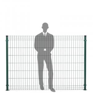 Hauteur panneau clôture rigide 1,53m vert