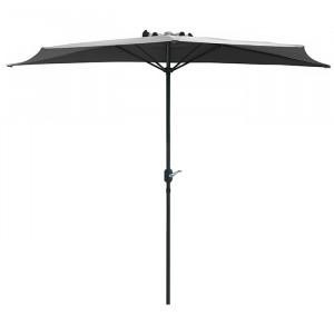 Demi parasol spécial balcon - Alizé - couleur écru beige clair