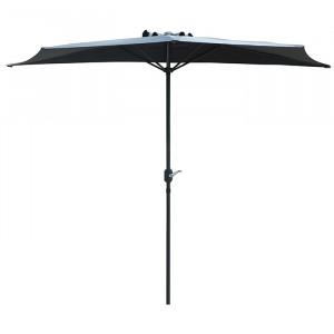 Demi parasol spécial balcon - Alizé - couleur gris