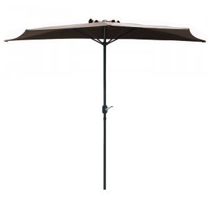 Demi parasol spécial balcon - Alizé - couleur taupe