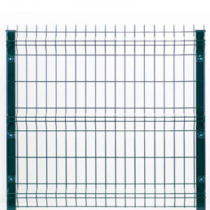kit clôture rigide platine nature bois concept 1,23 m vert