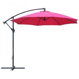 Parasol déporté rond inclinable Eco - Alizé - couleur framboise