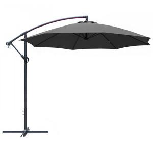 Parasol déporté rond inclinable Eco - Alizé - couleur gris