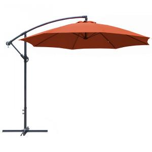 Parasol déporté rond inclinable Eco - Alizé - couleur paprika