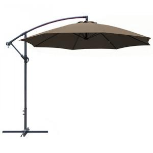 Parasol déporté rond inclinable Eco - Alizé - couleur taupe