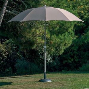Parasol droit rond Fibre de verre - Alizé - couleur taupe