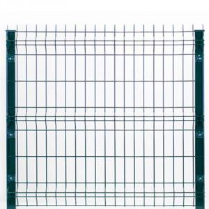 kit clôture rigide à sceller nature bois concept 1,23 m gris