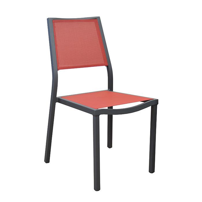 Ensemble de jardin table Latino et chaises Florence rouges - 6 personnes