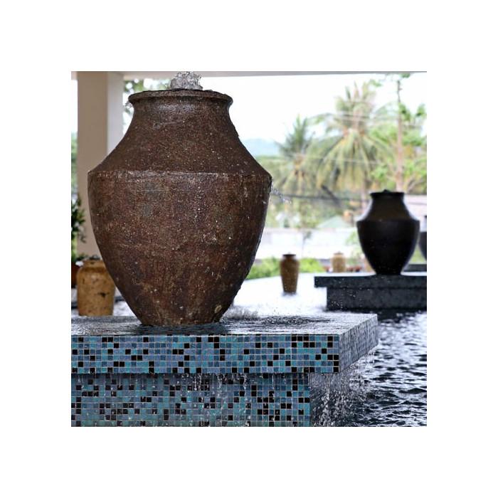 Exemple d'aménagement extérieur avec poterie Cyprus