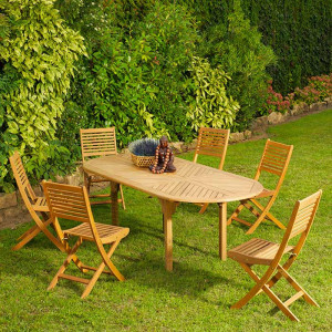 Table Durban 160/220 + 6 chaises Saturne