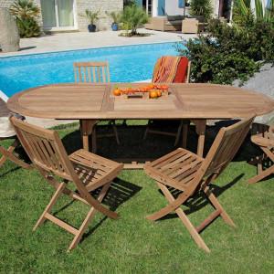 Table Hampton 160/220 + 6 chaises Vittel