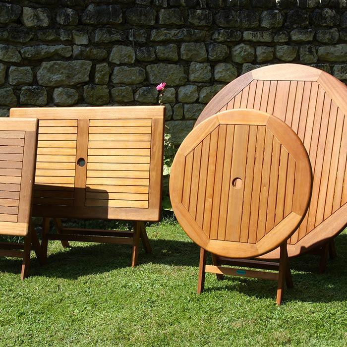 Emejing Salon De Jardin Bois Table Ronde Pictures - House Design ...