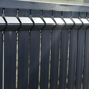kit occultant clôture rigide nature bois concept 1,23 m gris