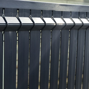 kit occultant clôture rigide nature bois concept 1,53 m gris