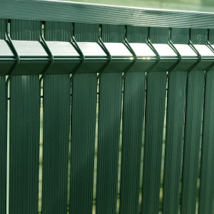 kit occultant clôture rigide nature bois concept 1,23 m vert