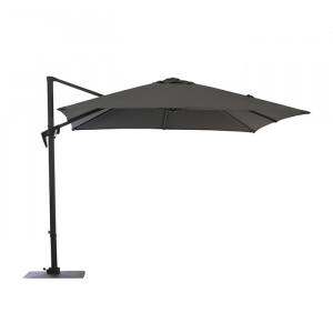 Parasol déporté inclinable rectangulaire 3x4m Roma - Alizé - couleur gris