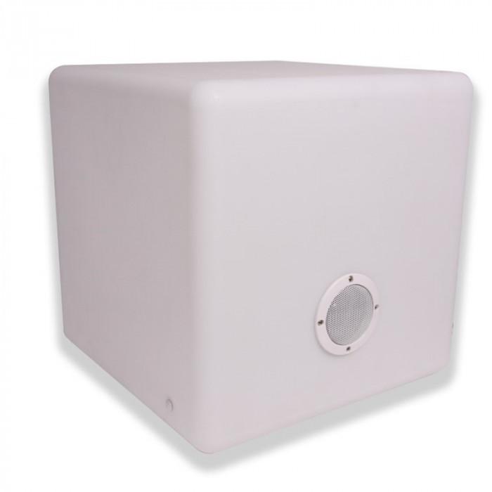 Enceinte Lumineuse multicolore musicale bluetooth  Cube 40 3 watt Garden Lights