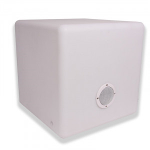 Enceinte Lumineuse multicolore musicale bluetooth  Cube 40 3 watt Garden Lights