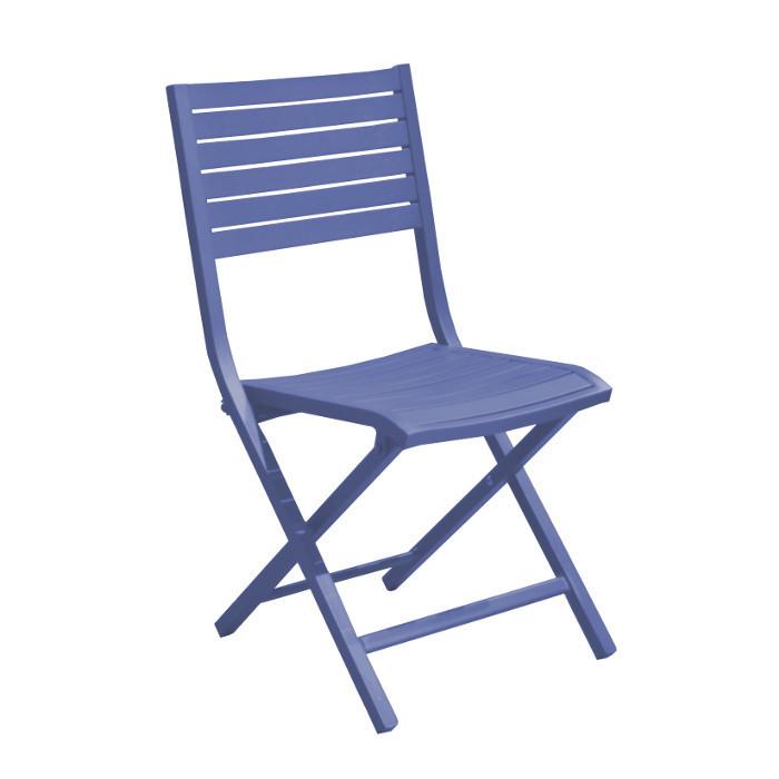 Chaise pliante de jardin Lucca - alu - cobalt