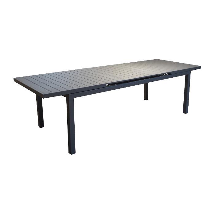 Table de jardin Lift Valencia - 160/206 cm - alu - gris