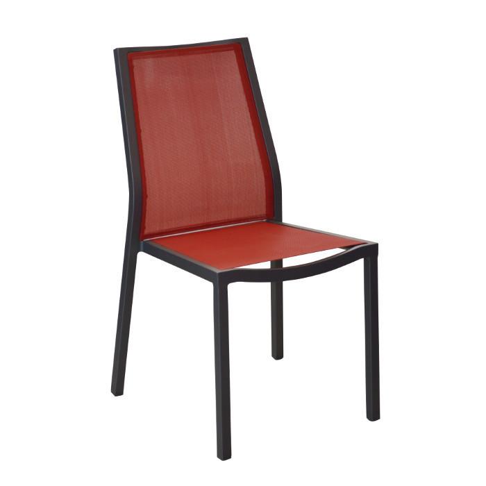 Chaise de jardin Ida - alu - rouge