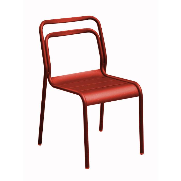 Chaise de jardin EOS - alu - rouge