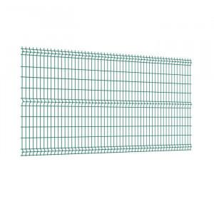 Panneau clôture rigide NBC - H1,23m - L2,50m - Acier galvanisé - vert