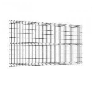 Panneau clôture rigide NBC - H1,23m - L2,50m - Acier galvanisé - gris