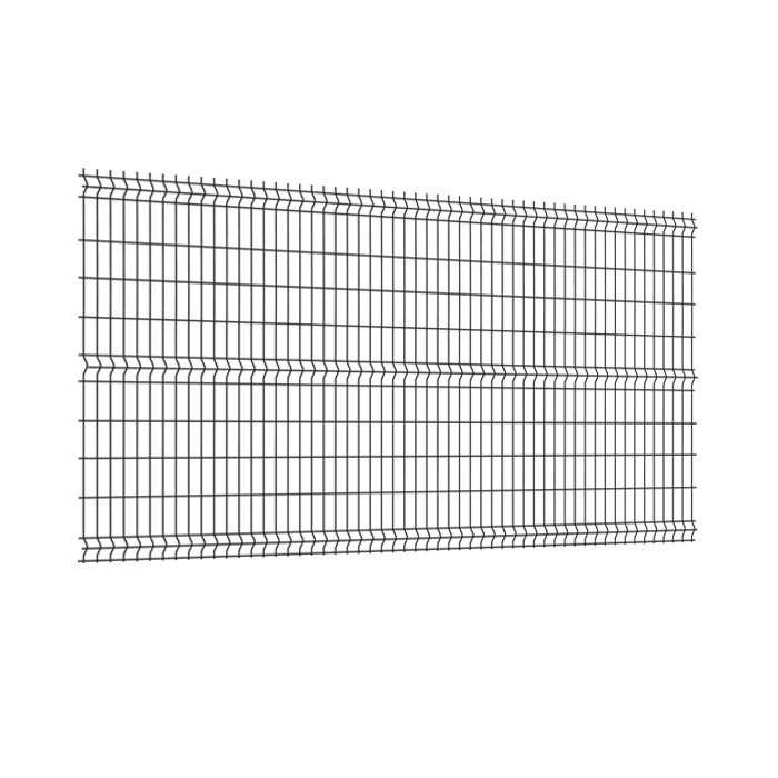 Panneau clôture rigide NBC - H1,93m - L2,50m - Acier galvanisé - gris