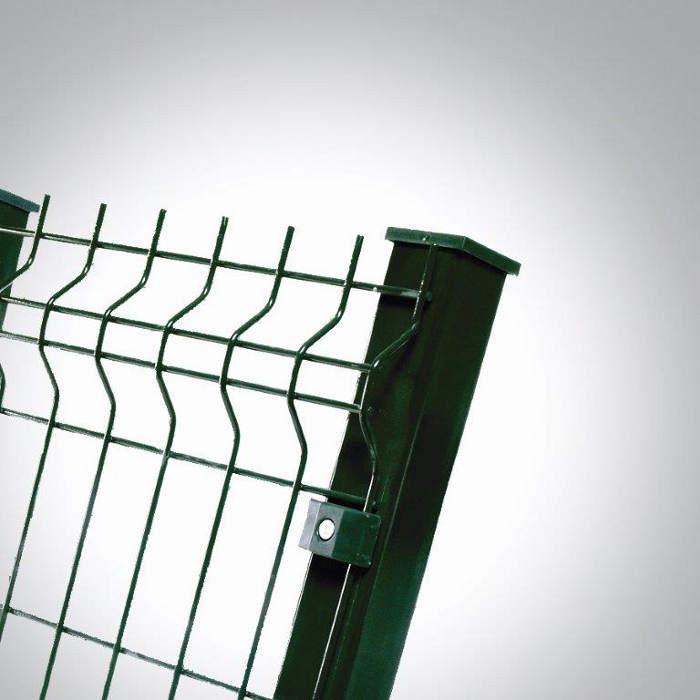 Poteau à sceller clôture rigide NBC - H1,93m - Acier galvanisé - fixation avec clip 2