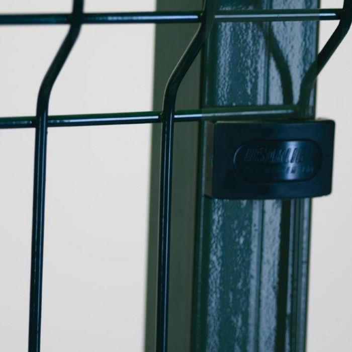 Poteau à sceller clôture rigide NBC - H2,33m - Acier galvanisé - fixation avec clip