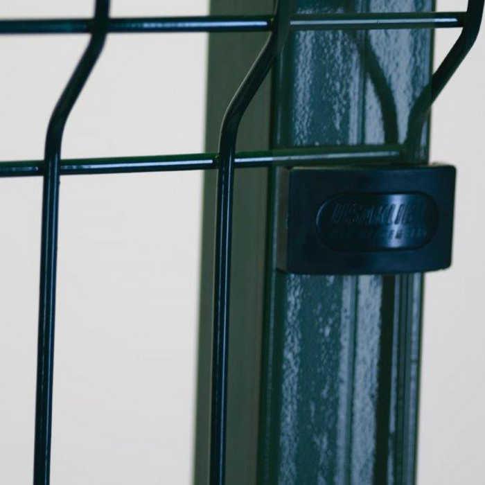 Poteau platine clôture rigide NBC - H1,73m - Acier galvanisé - fixation avec clip